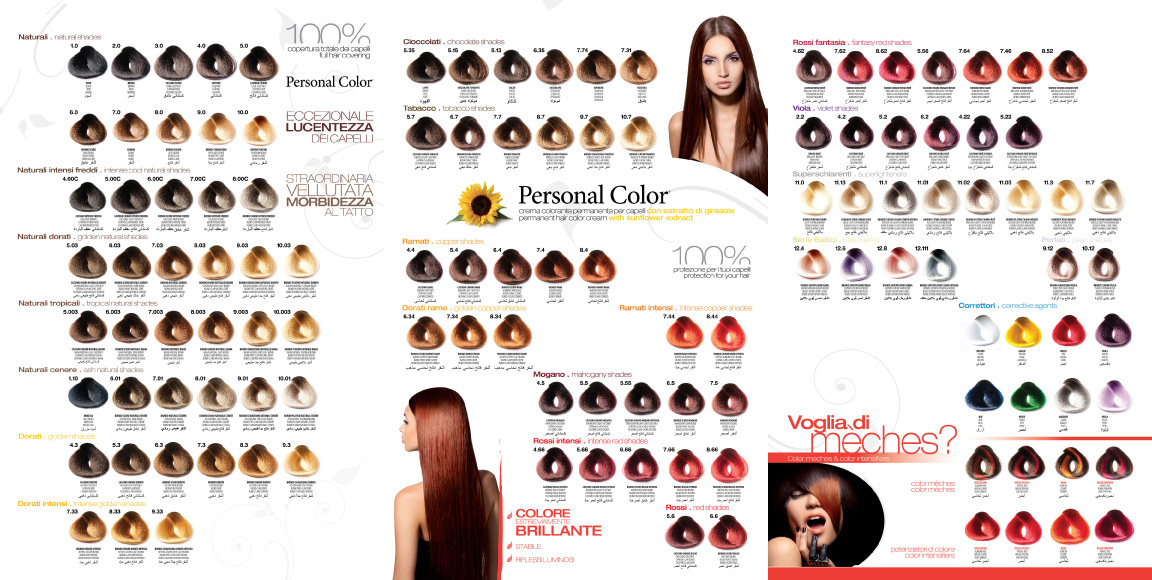 COLOR Color Chart catalogue  Please click the red download buttonRed Hair Color Chart