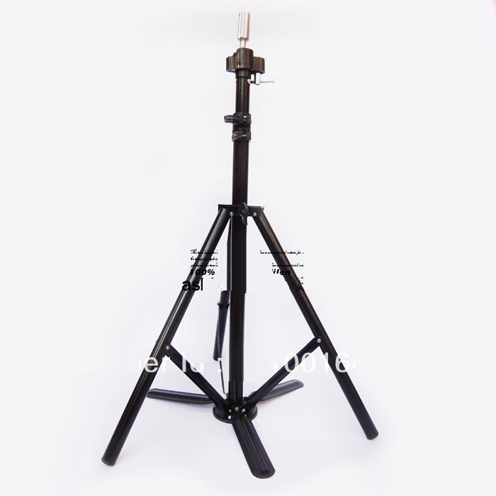 JOZELLE COSMETOLOGY MANNEQUIN HEAD TRIPOD STAND - SILVER/BLACK