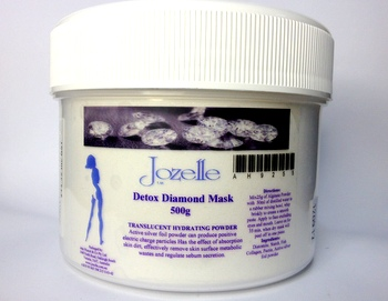 JOZELLE DETOX DIAMOND MASK 500G - TRANSLUCENT HYDRATING POWDER