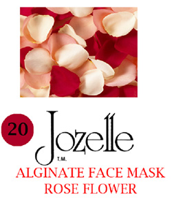 20.JOZELLE ALGINATE FACE MASKS 1KG /ROSE FLOWER-GIVES SKIN A SMOOTH & FIRM APPEARANCE