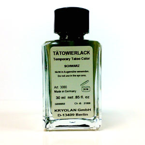 KRYOLAN TATTOO INK- ALL COLOURS 30ML