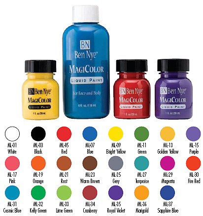 MAGICOLOUR LIQUID FACE PAINTS 29ml