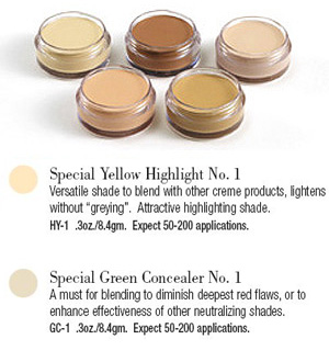 SPECIAL YELLOW HIGHLIGHTER & GREEN CONCEALER