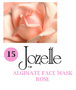 15.JOZELLE ALGINATE FACE MASK 250g /ROSE-FOR SENSITIVE SKIN TYPES