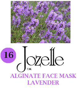 16.JOZELLE ALGINATE FACE MASK 1KG /LAVENDER-CALMING, HELPS CELLS REGENERATE