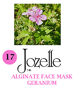 17.JOZELLE ALGINATE FACE MASK 1KG /GERANIUM-CONTROLS OIL & DECREASES PORES