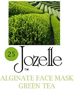 25.JOZELLE ALGINATE FACE MASK 250G /GREEN TEA-BACTERIOSTASIS, PREVENTS PIGMENTATION