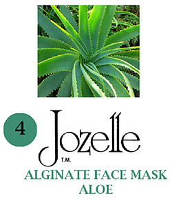 4.JOZELLE ALGINATE FACE MASK 1KG /ALOE-PROTECTS AGAINST UVA,UVB