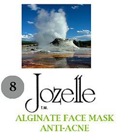 8.JOZELLE ALGINATE FACE MASK 1KG /ANTI-ACNE- ABSORBS OIL & PREVENTS PORE CLOGGING