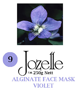 9.JOZELLE ALGINATE FACE MASK 250G /VIOLET-PROMOTES BLOOD CIRCULATION