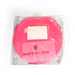 KRYOLAN POWDER PUFFS PINK VELOUR  10CM