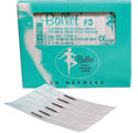 BALLET STAINLESS STEEL 1 PIECE NEEDLES (DISPOSABLE) F3 PK50