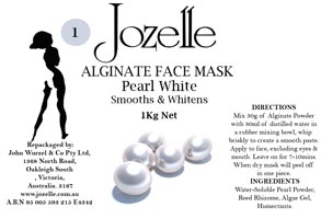 1.JOZELLE ALGINATE FACE MASK 1KG / PEARL - SMOOTHS AND WHITENS