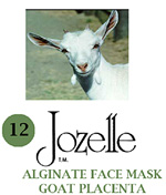 12.JOZELLE ALGINATE FACE PACK 500G /GOAT PLACENTA-ANTI-AGEING,REDUCES WRINKLES