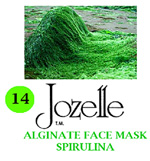 14.JOZELLE ALGINATE FACE MASK 250G /SPIRULINA-ADD NOURISHMENT,PREVENT PIGMENTATION