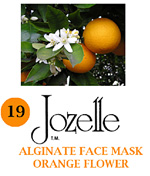19.JOZELLE ALGINATE FACE MASK 500G /ORANGE FLOWER-GIVES STRENGTH & ELASTICITY TO SENSITIVE SKIN