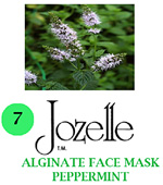 7.JOZELLE ALGINATE FACE MASK 500g /PEPPERMINT-MINIMISES REDNESS