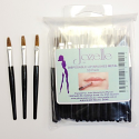 JOZELLE DISPOSABLE LIP BRUSHES METAL 50PK