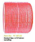 JOZELLE HAIR ROLLER VELCRO ROLLERS 70*63MM PK6 RED